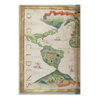 The Americas, detail from world atlas, 1565 Poster