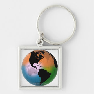 The Americas Ocean Current Map Keychain