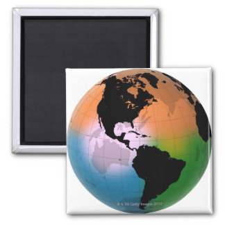 The Americas Ocean Current Map Magnet