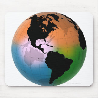 The Americas Ocean Current Map Mouse Pad