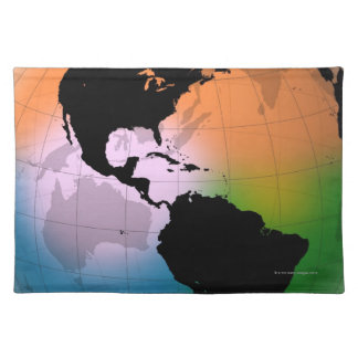 The Americas Ocean Current Map Cloth Placemat
