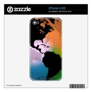 The Americas Ocean Current Map Decals For iPhone 4S