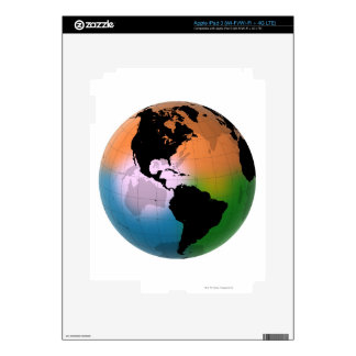 The Americas Ocean Current Map Skins For iPad 3