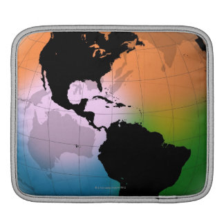 The Americas Ocean Current Map Sleeve For iPads
