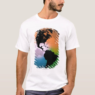 The Americas Ocean Current Map T-Shirt
