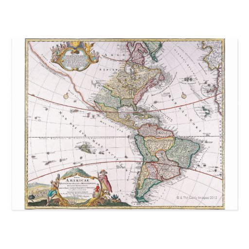 The Americas Postcard