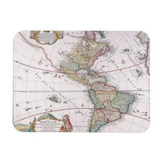 The Americas Rectangular Magnet