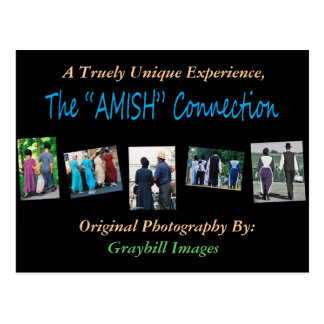 """The""""AMISH""""Connection Postcard"""