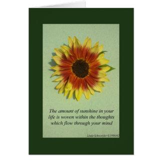 The amount of sunshine-Inspiration Card
