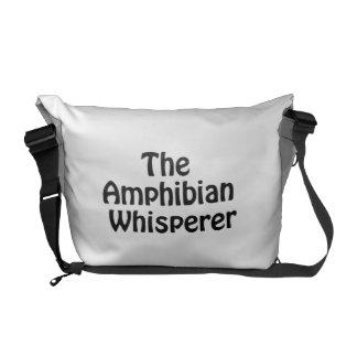 the amphibian whisperer messenger bags