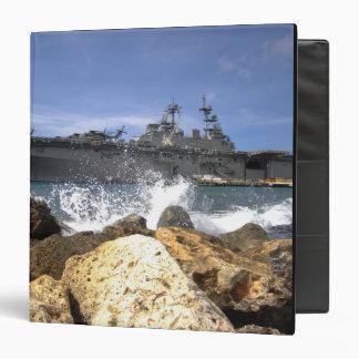 The amphibious assault ship USS Kearsarge Binder