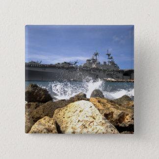 The amphibious assault ship USS Kearsarge Pinback Button