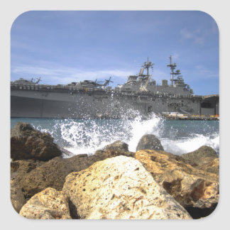 The amphibious assault ship USS Kearsarge Square Sticker