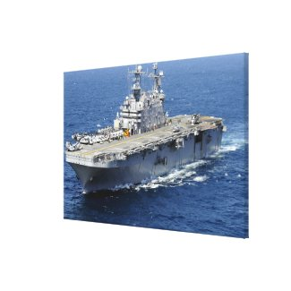 The amphibious assault ship USS Peleliu Canvas Print