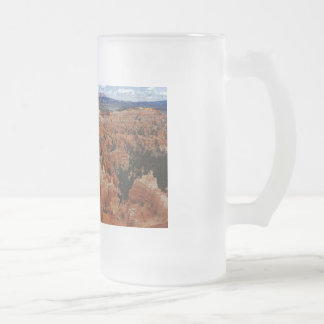 The Amphitheater from the rim at Bryce point at Br Frosted Glass Beer Mug