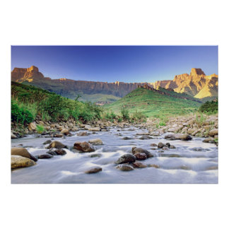 The Amphitheatre And Tugela River In Drakensberg Poster