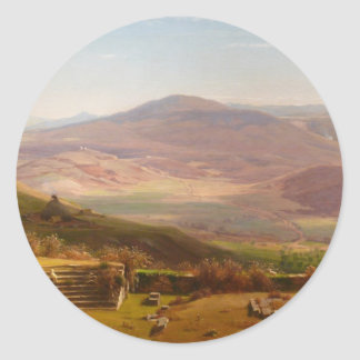The Amphitheatre of Tusculum and Albano Mountains Classic Round Sticker