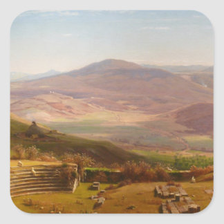 The Amphitheatre of Tusculum and Albano Mountains Square Sticker