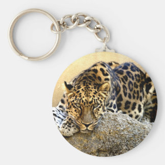 The Amur Leopard Basic Round Button Keychain