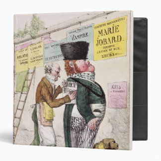 The Amusement of a Bill Sticker, 1820 3 Ring Binder