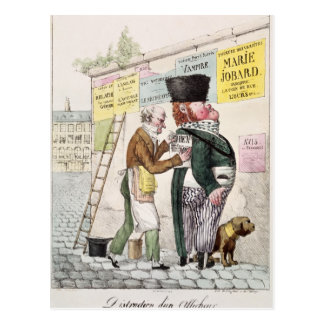 The Amusement of a Bill Sticker, 1820 Postcard