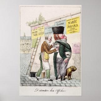 The Amusement of a Bill Sticker, 1820 Poster