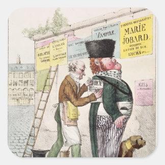 The Amusement of a Bill Sticker, 1820 Square Sticker
