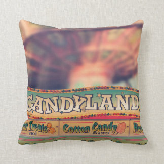 The Amusement Park Candy Stand Pillow