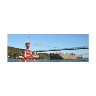 The Amy McAllister southbound at Poughkeepsie Canvas Print