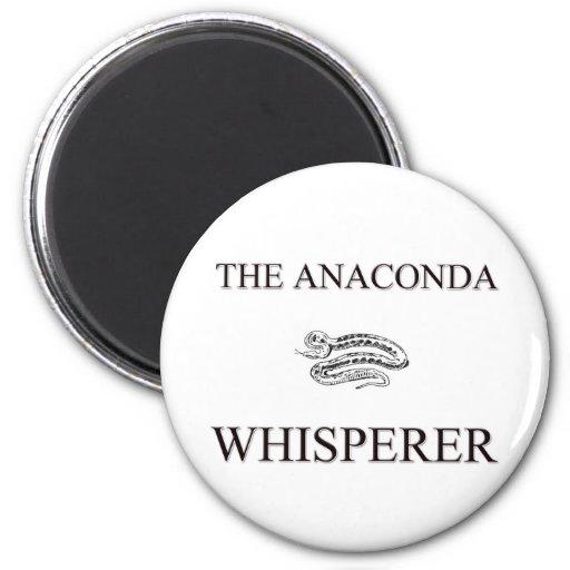 The Anaconda Whisperer Refrigerator Magnets