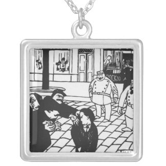 The Anarchist, 1892 Silver Plated Necklace