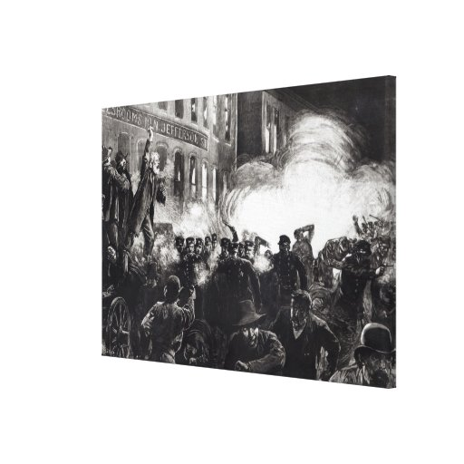 The Anarchist Riot in Chicago Gallery Wrapped Canvas