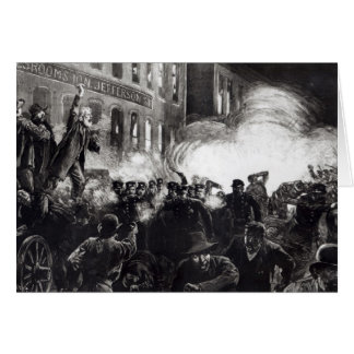 The Anarchist Riot in Chicago Card