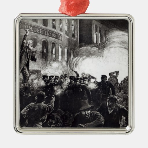 The Anarchist Riot in Chicago Ornaments