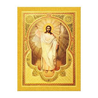The Anastasis - Christ is risen! Canvas Print