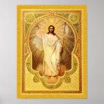 The Anastasis - Christ is risen! Icon Poster