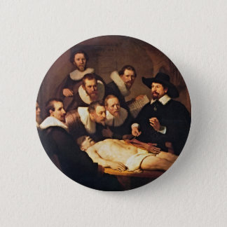 The Anatomy Lecture by Rembrandt Button