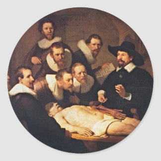 The Anatomy Lecture by Rembrandt Classic Round Sticker
