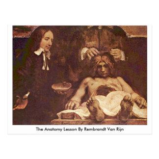 The Anatomy Lesson By Rembrandt Van Rijn Postcards