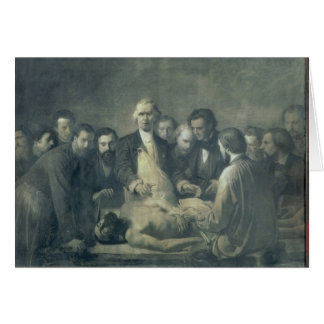 The Anatomy Lesson of Doctor Velpeau Greeting Card