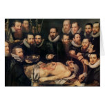 The Anatomy Lesson of Doctor Willem van der Greeting Card