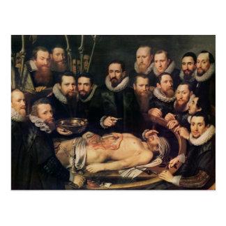 The Anatomy Lesson of Doctor Willem van der Postcard