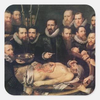 The Anatomy Lesson of Doctor Willem van der Square Sticker
