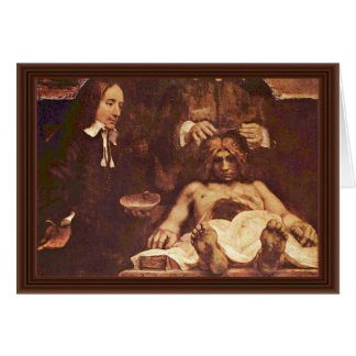 The Anatomy Lesson Of Dr. Joan Deyman. By Rembrand Cards