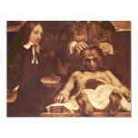 The Anatomy Lesson Of Dr. Joan Deyman. By Rembrand 4.25x5.5 Paper Invitation Card