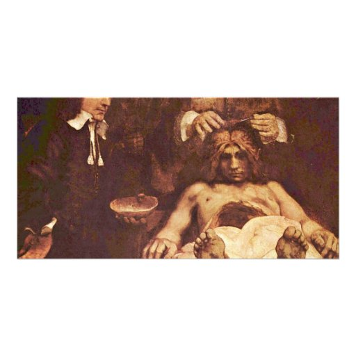The Anatomy Lesson Of Dr. Joan Deyman. By Rembrand Photo Card Template