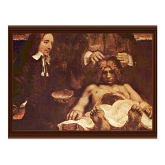 The Anatomy Lesson Of Dr. Joan Deyman. By Rembrand Post Card