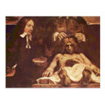 The Anatomy Lesson Of Dr. Joan Deyman. By Rembrand Postcard