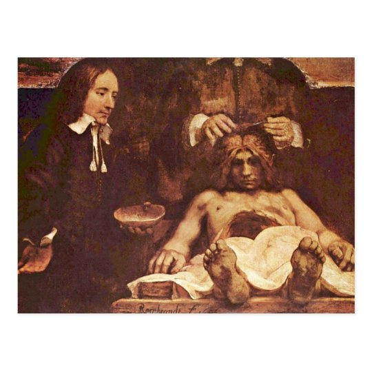 The Anatomy Lesson Of Dr Joan Deyman By Rembrand Postcard Zazzle