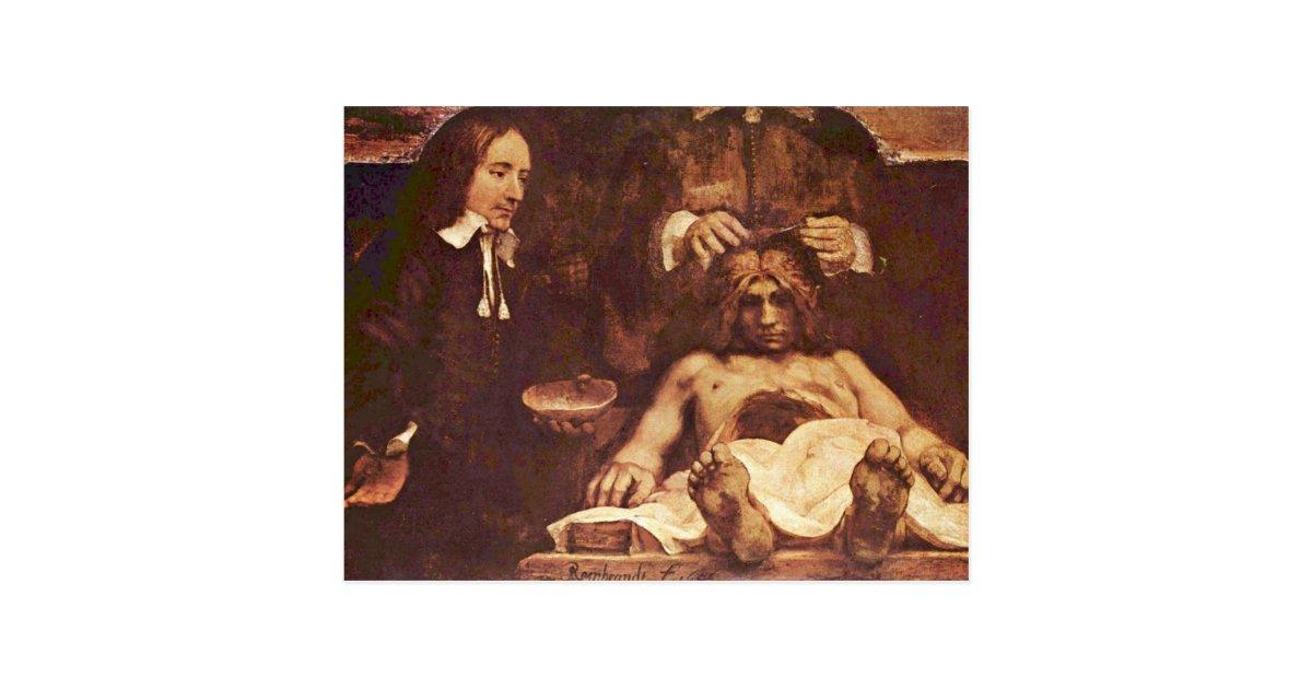 The Anatomy Lesson Of Dr. Joan Deyman. By Rembrand Postcard | Zazzle.com